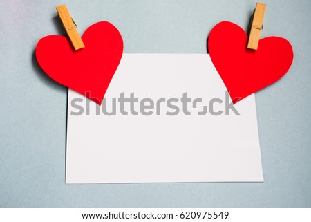 Background blue two hearts love letter stock photo royalty free the background is a blue two hearts love letter close up background records for love for m4hsunfo