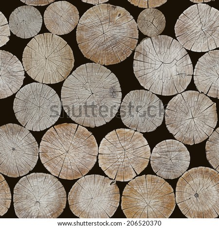 The background of logs. Seamless image - stock photo