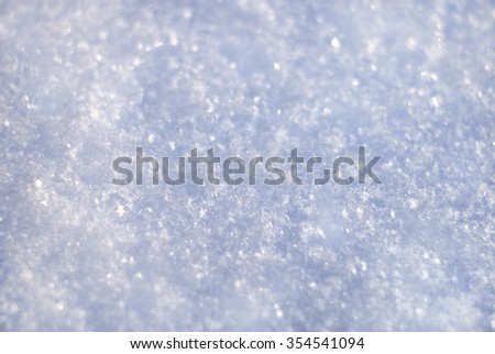 the background of snow, real snow/ snow background/ winter background - stock photo