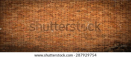 The background of textured brick wall. The walls of the house - stock photo