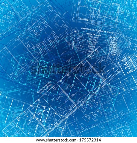The background of the architectural drawings. blue background