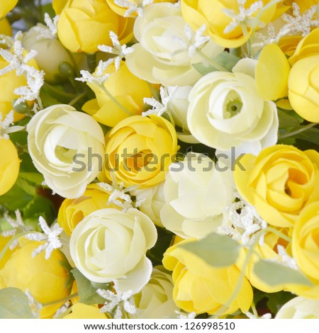 The background of the beautiful flowers, presents for Valentine'day - stock photo