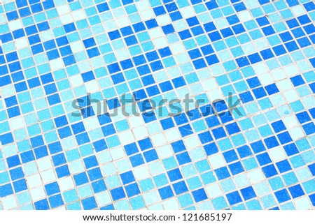 The background of the blue plaid ceramic tiles