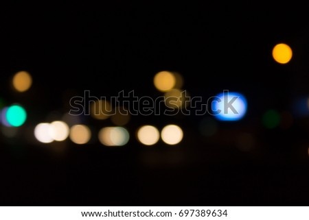 The background of the bokeh night city