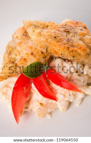 the baked fish with celery salad