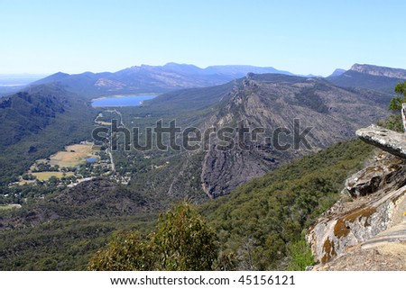 The balconies (Grampians National Park, located in Victoria, Australia) - stock photo