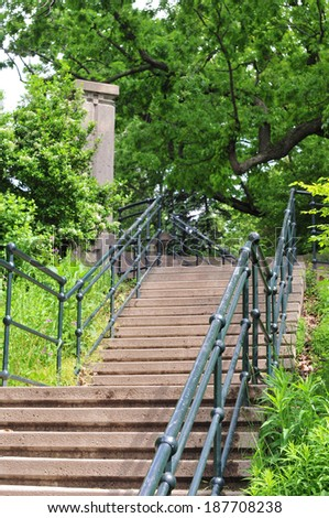 The Baldwin Steps are a public outdoor staircase located in Toronto, Canada - stock photo