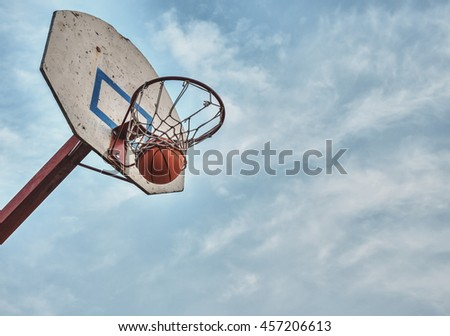 The ball flew into the basket.