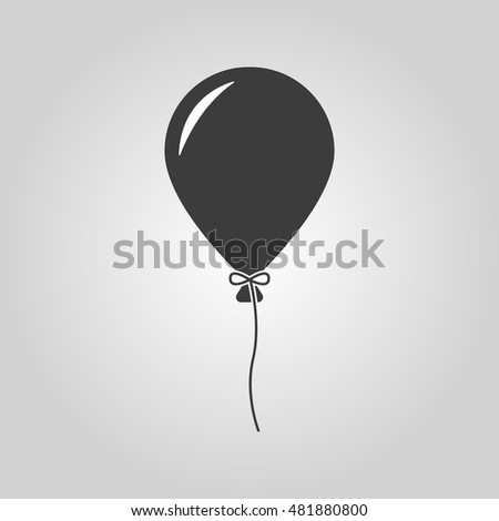 The balloon icon. Holiday symbol. Flat  illustration