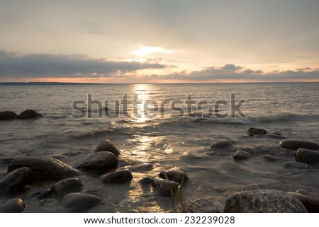 The baltic sea, southern of Sweden photographed daytime - stock photo