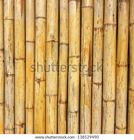 The bamboo wall texture background - stock photo
