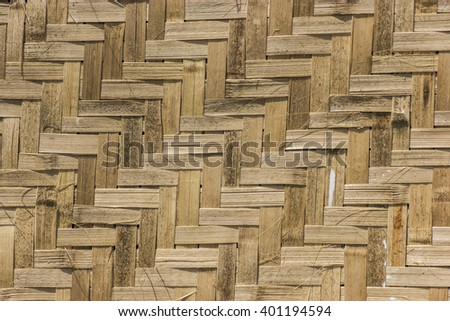 The bamboo weaving texture