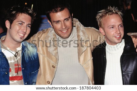 The band True Vibe at the premiere of ON THE LINE, NY 10/9/2001