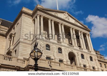 The Bank of England in Threadneedle Street London - stock photo