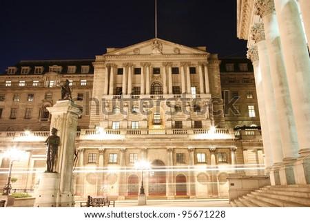 The Bank of England, London, UK - stock photo
