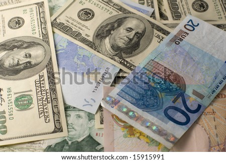 The banknotes background - stock photo