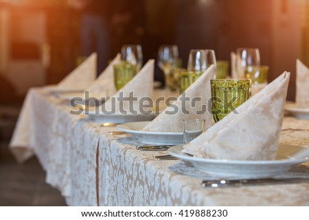 The BANQUET TABLE