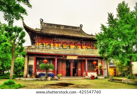 The Bao'en Temple complex in Suzhou, Jiangsu Province, China