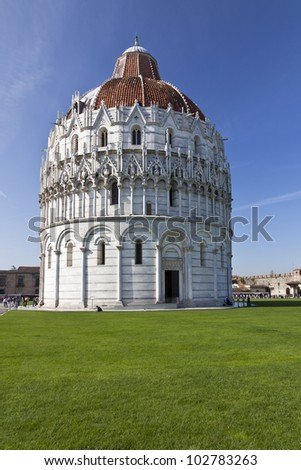 The Baptistry of the Cathedral of Pisa