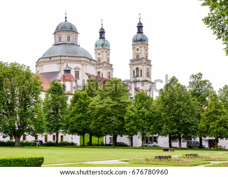 The baroque Saint Lawrence Basilica in Kempten (Bavaria, Germany)