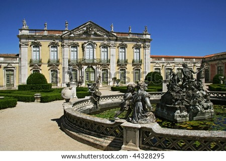 The Baroque style 18th-century Queluz National Palace - stock photo