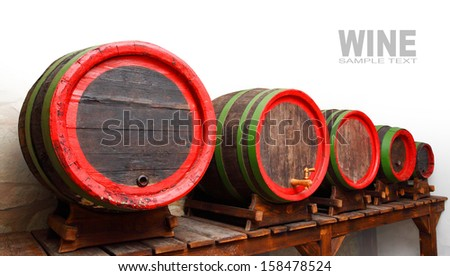 The barrels with space for your text.  - stock photo