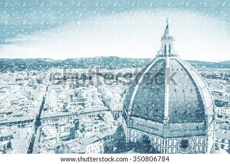 The Basilica di Santa Maria del Fiore (Basilica of Saint Mary of the Flower) in Florence, Italy - stock photo
