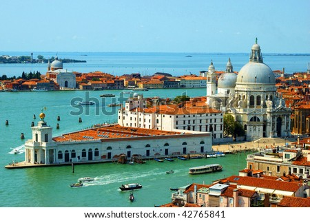 The Basilica di Santa Maria della Salute - stock photo