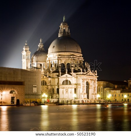 The Basilica di Santa Maria della Salute - Venice - stock photo