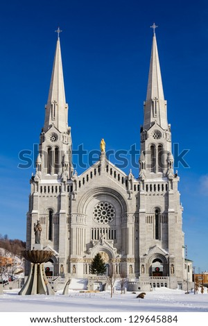The Basilica of Saint Anne in Quebec City, Canada - stock photo