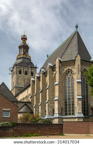 The Basilica of St. Ursula is one of the twelve Romanesque churches of Cologne, Germany. It is built upon the ancient ruins of a Roman cemetery - stock photo