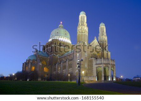 The Basilica of the Sacred Heart in Brussels, Belgium