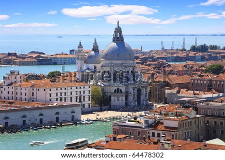 The Basilica Santa Maria della Salute in Venice - stock photo
