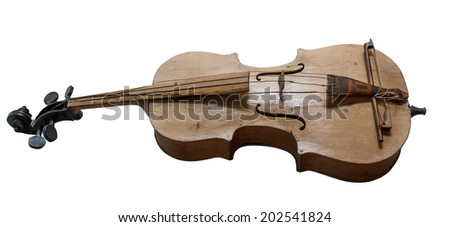 The basolia is a Ukrainian folk instrument isolated on a white background - stock photo