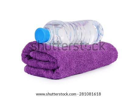 The bath towel isolated on white background