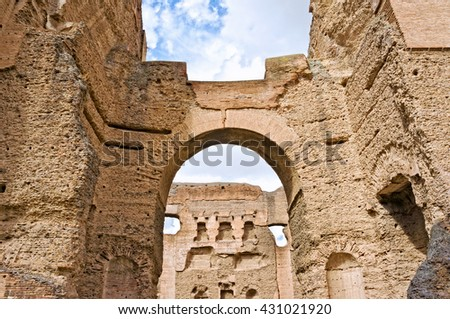 The baths of Caracalla - Rome Italy