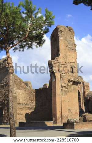 The baths of Diocletian. Rome. Italy - stock photo