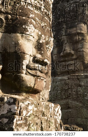The Bayon Temple in Angkor