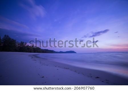 the beach and tropical sea - stock photo