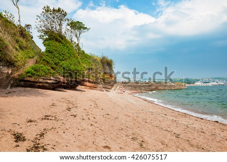 The beach at Fairy Cove Paignton Torbay Devon England UK Europe