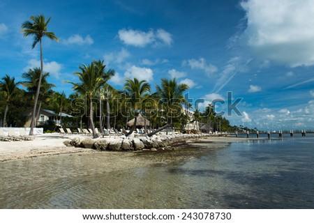 The beach at Islamorada, FL, USA - stock photo
