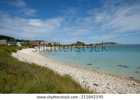 The beach at Old Grimsby, Tresco, Isles of Scilly - stock photo