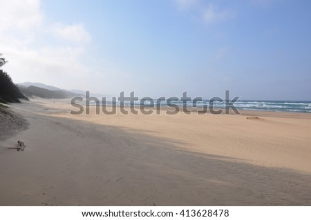 the beach at the Isimangaliso wetland park, St Lucia, South Africa