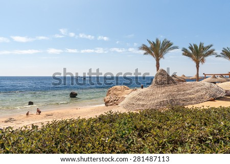 The beach at the luxury hotel, Sharm el Sheikh, Egypt