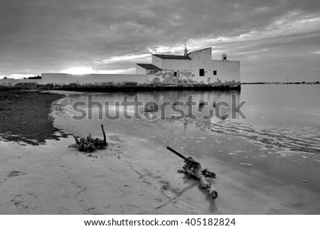 the beach house , Ria Formosa, olhao, Algarve, Portugal - stock photo