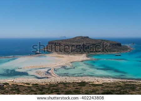The beach of Balos, Crete, Greece