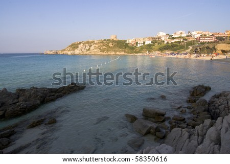The Beach of St. Teresa in Summer - North Sardinia, Italy
