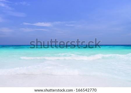 The beach, Tachai island, Thailand - stock photo