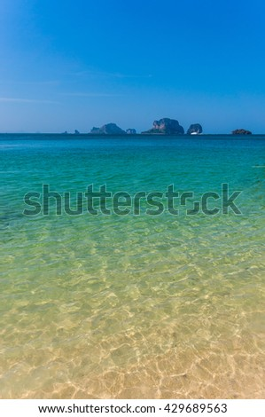The beach with sea and sand