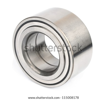the bearing of a nave of the car on a white background - stock photo